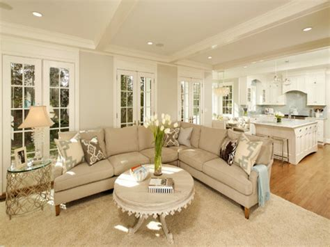 kitchen livingroom cream and grey living room modern house