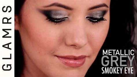 eyeliner tutorial glamrs metallic grey smokey eye look expert makeup tutorial by