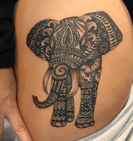 bold black tattoo designs bold black mandala elephant tattoosbasket
