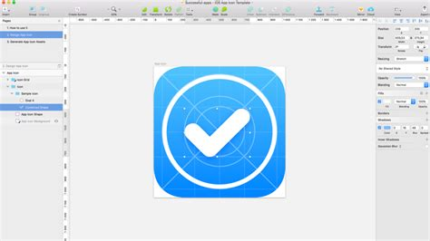 ios application templates free ios app icon template for sketch uxmisfit
