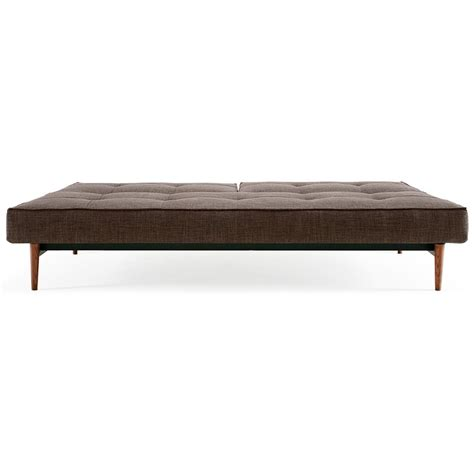 brown inn splitback deluxe sofa bed walnut wood begum brown dcg stores