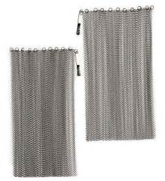 mesh curtain fireplace screen 24 quot l x 48 quot w collection
