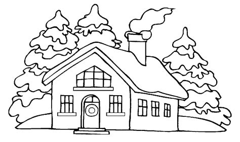 coloring pages of winter houses dibujos de casas para colorear e imprimir gratis