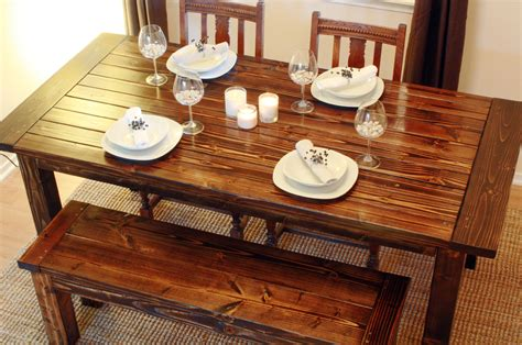 how to build a wood dining table how to build a wood diy dining table