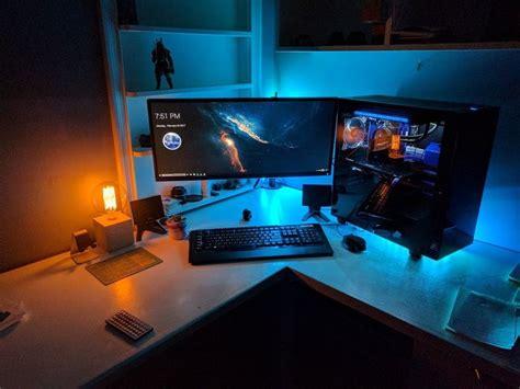 corner desk gaming setup 540 best images about on rigs gaming setup