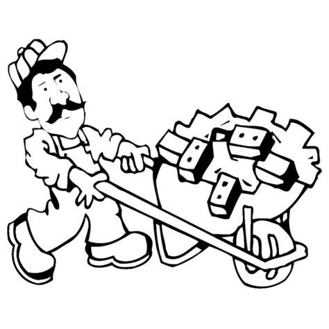 clipart muratore disegno di muratore da colorare per bambini