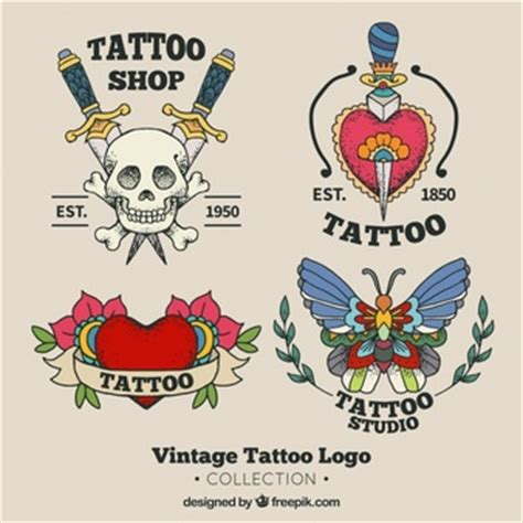 tattoo old school logo tribal skull tattoo from frontal view vector free download