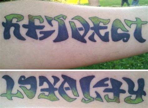 loyalty and respect tattoos quot respect quot quot loyalty quot ambigram flickr photo