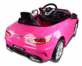 Pink Mercedes Power Wheels 12v Pink Mercedes S63 Amg Electric Car