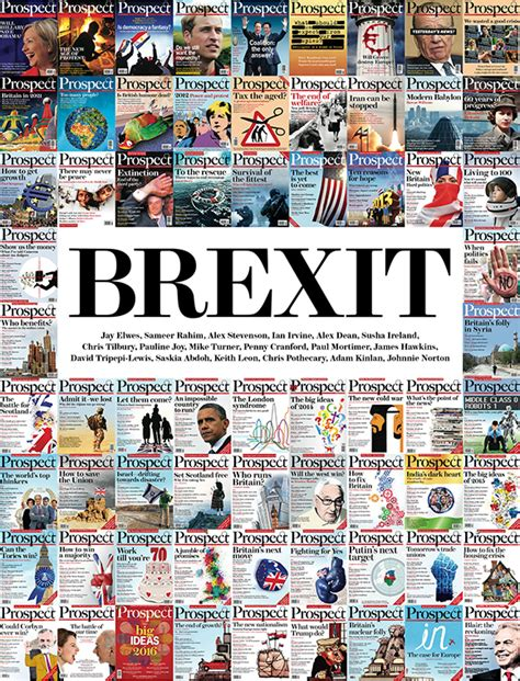 brexit and politics books a foreword brexit prospect magazine
