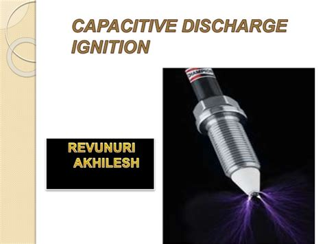 ppt about capacitor capasitor discharge ignition ppt