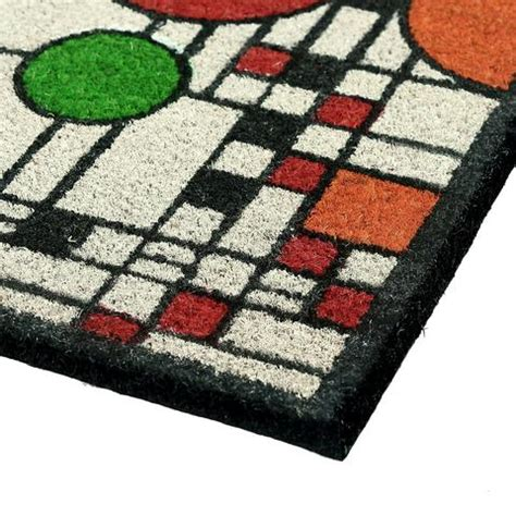 Frank Lloyd Wright Doormat by Frank Lloyd Wright Colored Coonley Playhouse Doormat