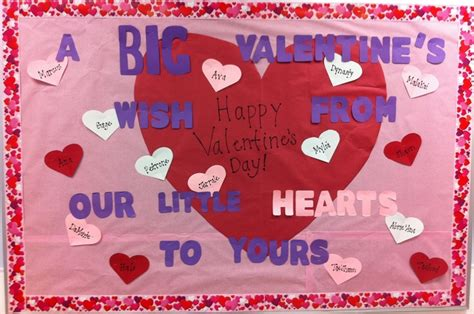 bulletin board ideas for valentines day big wishes hearts s day bulletin board