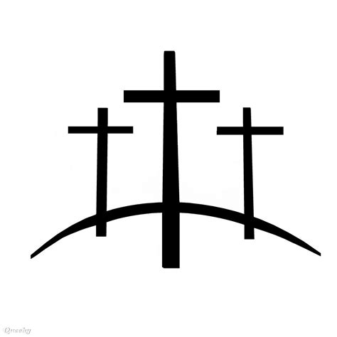 three crosses tattoo 3 crosses a black white speedpaint drawing by