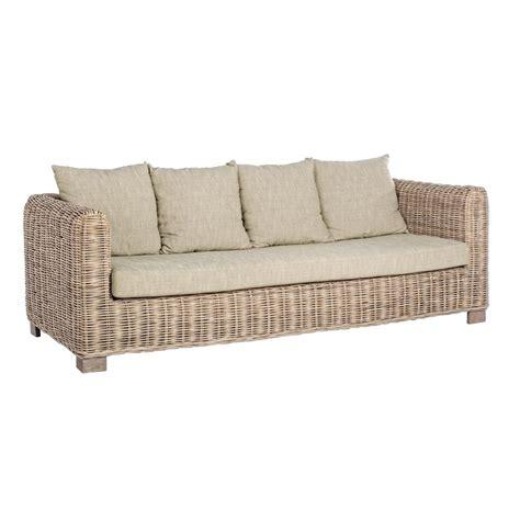 divani da esterno offerte divano da esterno da 3 posti in legno e rattan modello