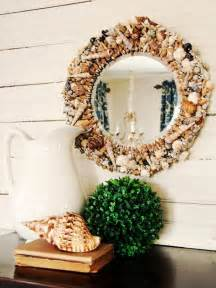 mirror decoration at home how to make a seashell mirror hgtv