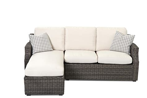 outdoor sofa with chaise klaussner outdoor cascade outdoor sectional sofa with