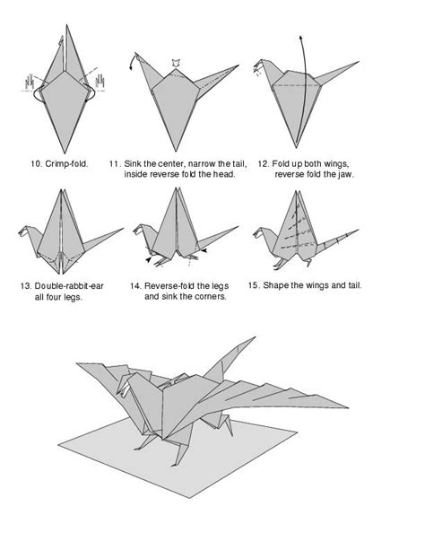How To Make An Origami Wolf Step By Step - how to make a origami easy