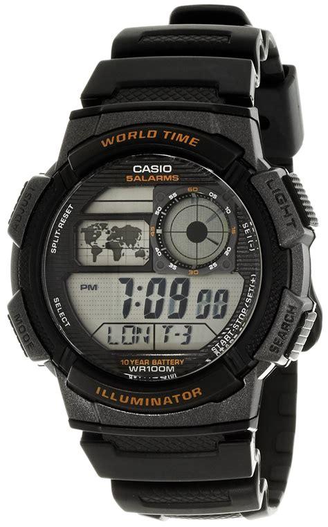 casio original ae 1000w 1a vdf casio gents digital world time alarm stopwatch sports