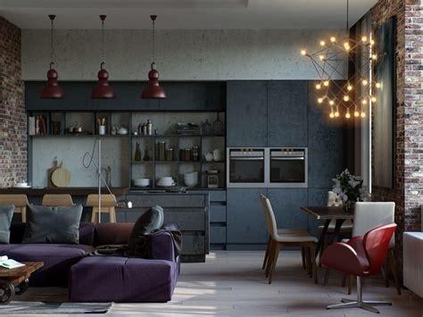 red and purple home decor industrial style dining room design the essential guide