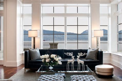 small living room designs with modern black sofa