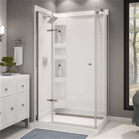 costco bathroom showers maax athena corner shower kit