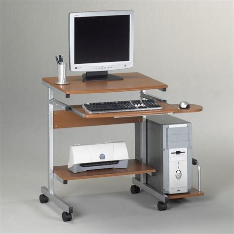 Mobile Computer Desk Mayline Eastwinds Portrait Mobile Wood Computer Cart 946