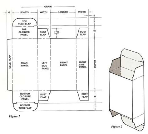 Standard Straight Tuck End Box Template1 Bo 238 Tes Sacs Paniers Non Big Shot Pinterest Box Box Design Templates
