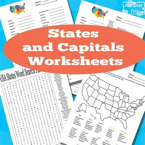 States And Capitals Worksheets by Free States And Capitals Worksheets