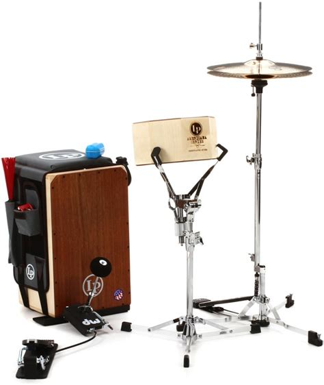 cajon with cymbals latin percussion professional cajon drumset with cymbals