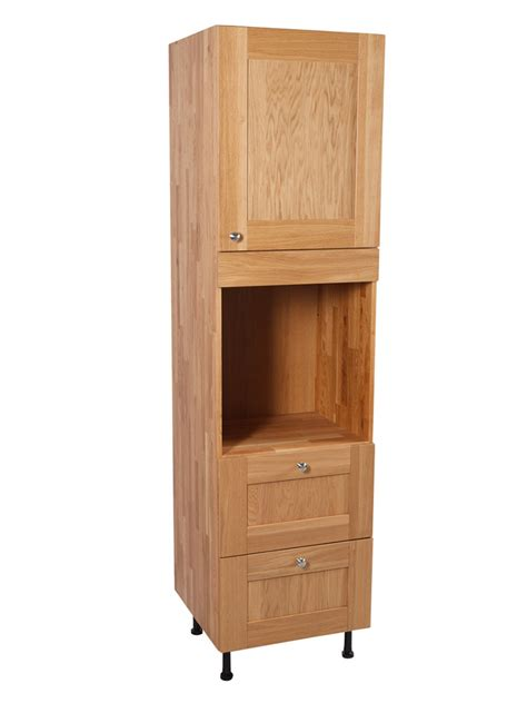 Oven Cabinet solid oak kitchen height single oven cabinet h2145mm x w600mm x d570mm shaker lacquered