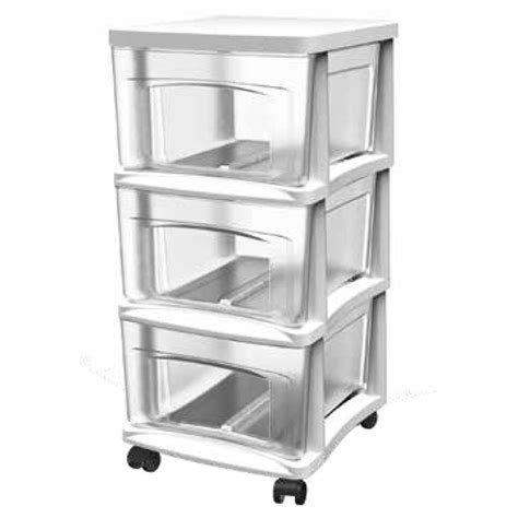 3 drawer plastic storage cart shop style selections 14 5 in x 20 75 in 3 drawer clear