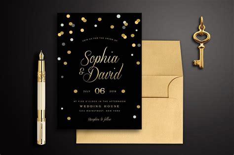 black and gold wedding invitation 90 gorgeous wedding invitation templates design shack