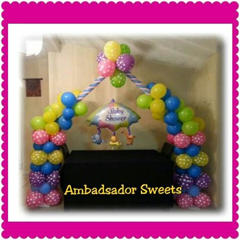 Baby Shower Balloon Arch by Baby Shower Balloon Arch Ideas