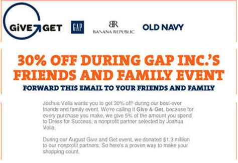old navy coupons friends and family gap banana republic old navy canada friends family