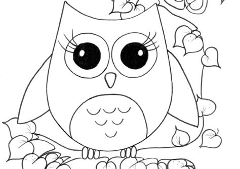 coloring pages of big owl coloring pages printable free printable pages girls
