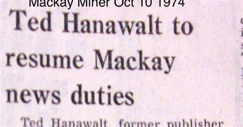 Resume Maker Mackay mackay idaho 83251 blast from the past ted hanawalt to