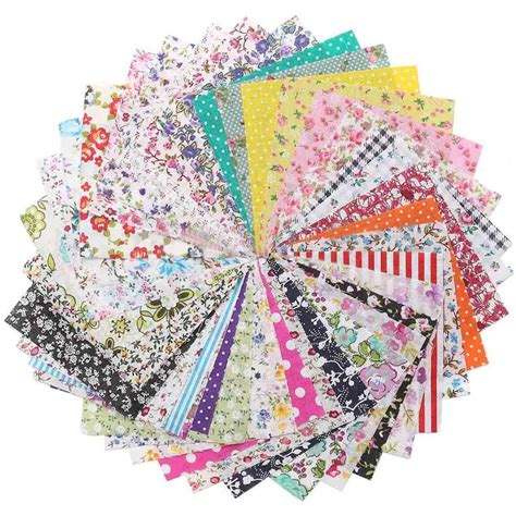 Patchwork Sewing - 15 60pcs fabric bundle cotton patchwork sewing quilting