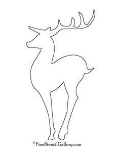 reindeer silhouette template reindeer silhouette stencil 04 free stencil gallery