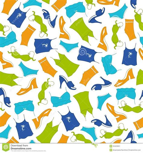 clothes pattern vector seamless pattern clothes woman stock image image 35423051