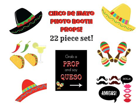 cinco de mayo printable photo booth props cinco de mayo photo booth props free cupcake toppers