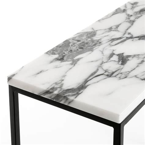 marble top console table image console met plateau in marmer mahaut am pm it s