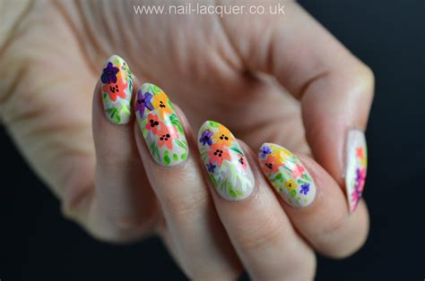 nail art tutorial uk summer flowers nail art tutorial nail lacquer uk