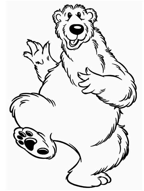bear inthe big blue house is happy coloring pages netart