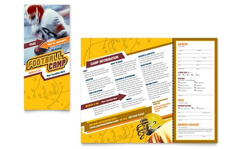 sports brochure templates football sports c brochure template design