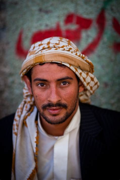 arab headdress pattern portrait of a young yemeni with the keffiyeh in the old