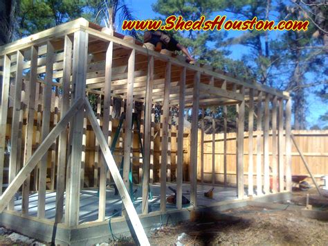 shed installation sheds fences decks sheds 187 shed with attic being built