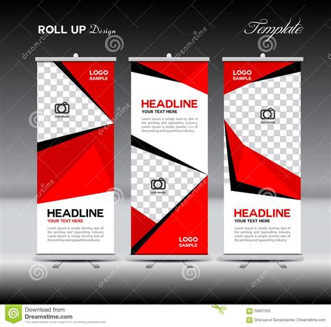 roll up vector background texture standee banner vector