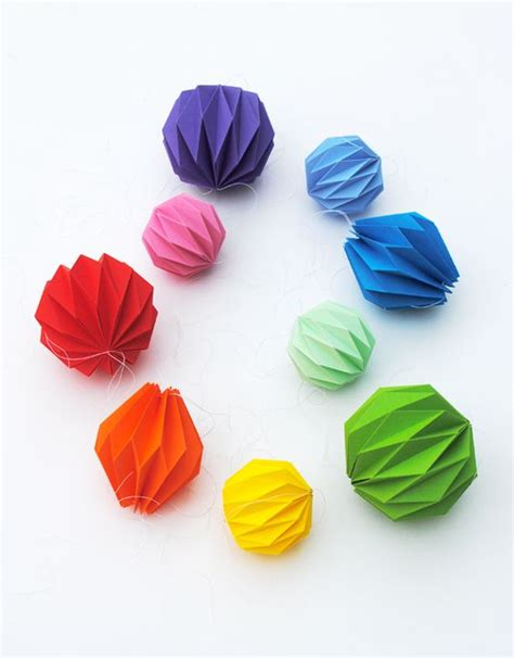 How To Make Paper Balls For Decoration - folded origami decoration accordion folding mini eco