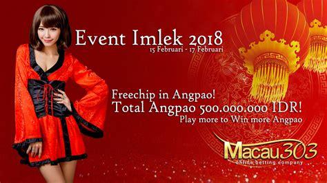 event imlek angpao  total hadiah freechip  juta